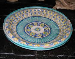painted platters 3 painted islamic platters bowls for sale at 1stdibs