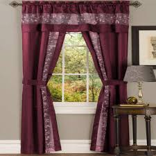 Sheer Burgundy Curtains Achim Sheer Fairfield Taupe Window Curtain Set 55 In W X 84 In