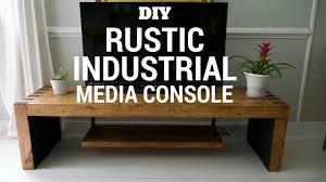Diy Rustic Desk by Diy Rustic U0026 Industrial Tv Console Youtube
