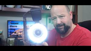 macro lens ring light neewer macro ring flash as a video light review youtube