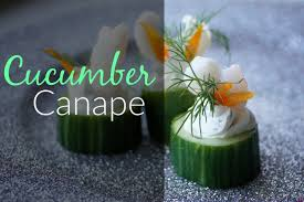 simple vegetarian canapes cucumber canape easy appetizer recipe