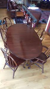 pennsylvania house queen anne cherry drop leaf dining room table