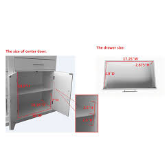 Kitchen Storage Cabinets With Glass Doors by Kings Brand Kitchen Storage Cabinet Buffet With Glass Doors White