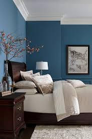 good color of simple bed room in chinese style interior design
