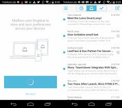 dropbox app for android mailbox email app for android has been released ghacks tech news