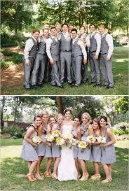 wedding party ideas gray and yellow garden wedding gray and weddings