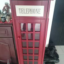 london phone booth bookcase london phone booth bookshelf reserved home furniture on carousell