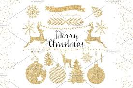 gold christmas gold christmas clipart objects creative market