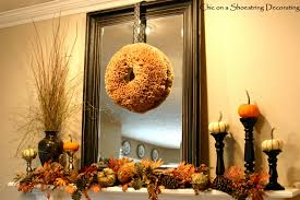 good looking fall mantel decoration for living room areas