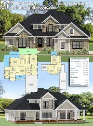 traditional craftsman house plans plan 46320la attractive traditional house plan traditional