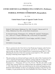 Federal Power Of Attorney by Cities Service Gas Producing Company V Federal Power Commission