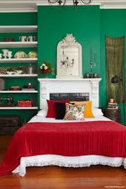 Red Feature Wall In Bedroom 40 Best Emerald Green Beds Images On Pinterest Bedrooms Emerald