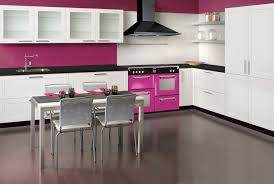 Pink kitchen appliances from Belling The Floral Burst range