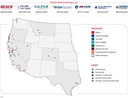Roseburg Oregon Map Service Areas Reach Air Medical Servicesreach Air Medical Services