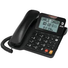cortelco wall mount phone panasonic corded feature phone with caller id black kx tsc11b
