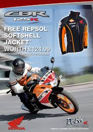 honda cbr125r free repsol softshell jacket with honda cbr125r doble motorcycles