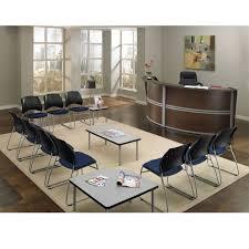 Curved Reception Desk Ofm 55292 Marque Double Curved Reception Desk Station