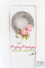 Spring Wreath Ideas Peony Spring Wreath