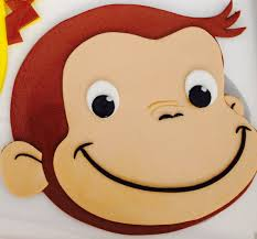 curious george cake topper fondant curious george cake topper by pinkcitysugarart on etsy