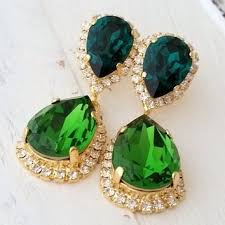 green earrings shop emerald green earrings on wanelo