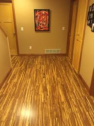 Laminate Flooring Over Concrete Basement Basement Revamp With Tiger Bamboo