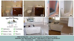 Bathtub Refinishing Omaha Bathtub And Countertop Resurface Repair Stuart Fl Youtube