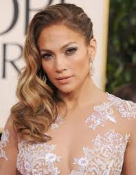 swept to the side with old hollywood curls jennifer lopez hair