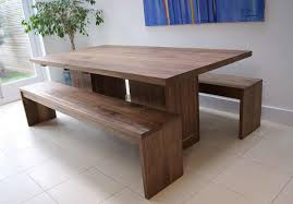 Extendable Dining Table With Bench by Walnut Dining Table And Bench