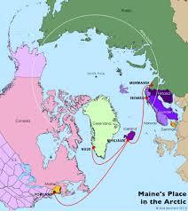Portland Maine Map by Eimskip Cryopolitics
