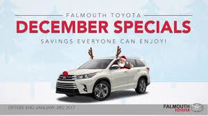 december toyota specials at falmouth toyota bourne ma cape cod