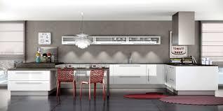 meuble de cuisine blanc brillant cuisine brillante