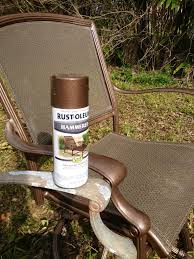 Metal Patio Furniture Paint - rustoleum hammered metallic spray paint for my upcycled patio set