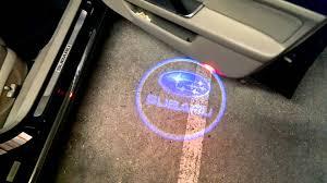 subaru logos subaru logo car door projector youtube