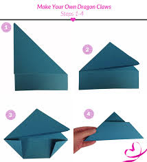 Origami Paper Claws - how to make origami claws alfaomega info