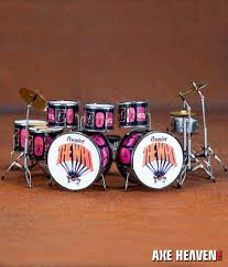 keith moon pictures of tribute drum set miniature replica