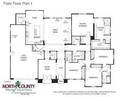 floor plan for new homes fiore in encinitas opens for sale county new homes