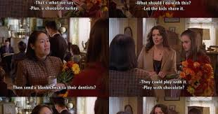 plus s chocolate turkey gilmore quotes season 3