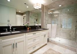black granite top over white bathroom vanity salle de bain