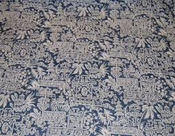 Palm Tree Upholstery Fabric Rl112 Ralph Lauren Le Colonial Toile Indigo Blue And White Asia