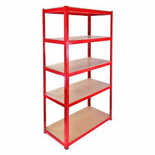 ideas red metal shelving and slim shelves plus home depot