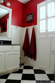 77 best red bathrooms images on pinterest red bathrooms
