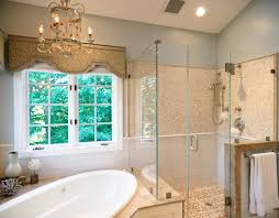 corner bathtub shower bathroom traditional with brushed nickel