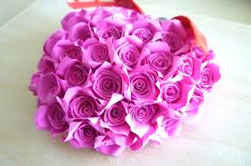 cute beautiful rose heart bouquet pink handmade paper quilling