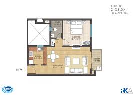 1 bhk floor plan 1 bhk 924 sq ft apartment for sale in ruchi one rajarhat at rs
