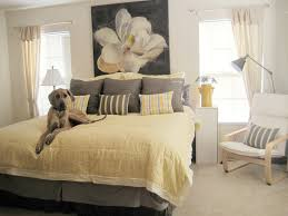 Yellow And Grey Room Yellow And Grey Bedroom Along With Cool Artistic Wall Decor Home