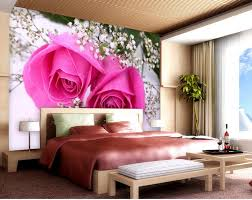 home decoration pink rose mural 3d wallpaper 3d wall papers for tv