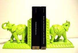 lime green home decor lime green elephant bookends kitsch home decor nursery home