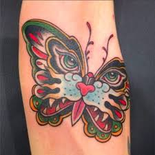cat butterfly tattoos design tattoos of cat butterfly combo