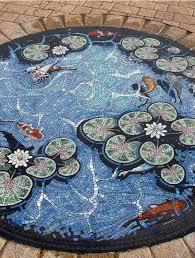 Mosaic Floor L Koi Pond Trompe L Oeil Mosaic Floor By Mosaic Artist Gary