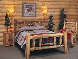 log bedroom furniture rustic log bedroom furniture varnished log wood king size bed